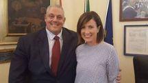 L'assessore Chiara Veltroni e il sindaco