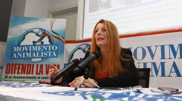 La conferenza stampa di Michela Brambilla (Newpress)