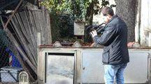 Il luogo in via Virginio dove è stato travolto e ucciso Leonardo Bianconi, commerciante 49enne residente a Scandicci