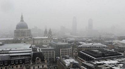 Londra sotto la neve