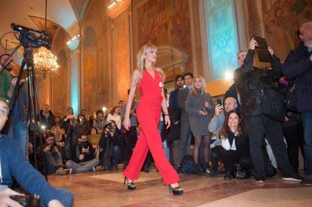 Durante l'iniziativa Miss Mondo Emilia Romagna è stato presentato il calendario 2018 in favore della Fanep (foto Schicchi)