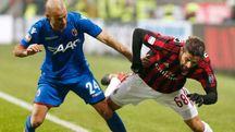 Palacio in azione contro il Milan (LaPresse)