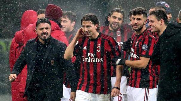 Milan-Bologna 2-1, prima vittoria per Gattuso in panchina (Ansa)
