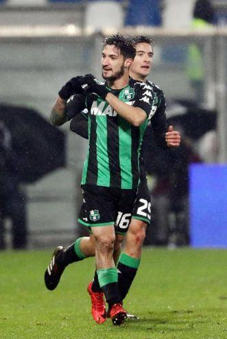 Sassuolo-Crotone 2-0, Politano (Ansa)