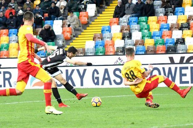 Udinese-Benevento 2-0, Lasagna (Lapresse)