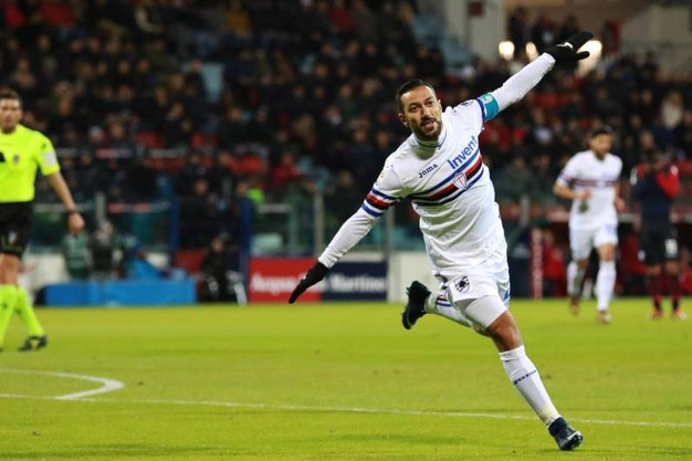 Cagliari-Sampdoria 0-1, Quagliarella (Ansa)