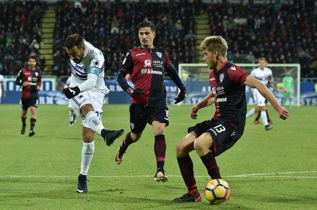 Cagliari-Sampdoria 0-2, Quagliarella (Lapresse)