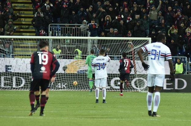 Cagliari-Sampdoria 1-2, Farias (Lapresse)