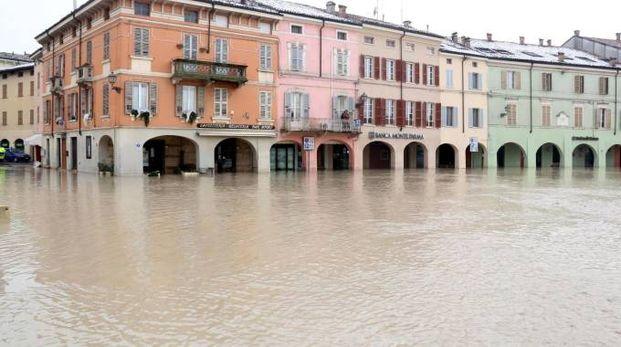 Maltempo, i danni causati a Colorno (Parma) (Ansa)