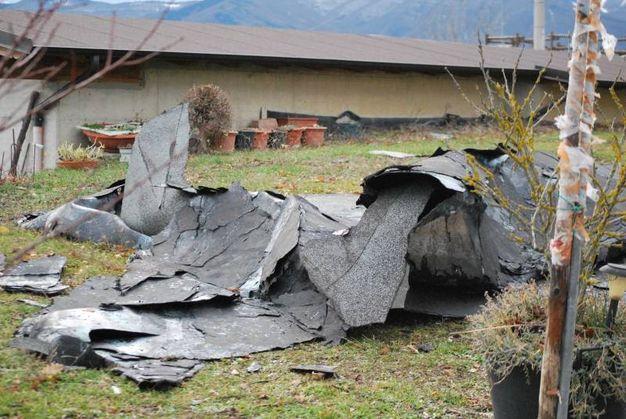 I danni alla chiesa di Borra di Lama Mocogno