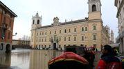 Gli allagamenti a Colorno, Parma (Lapresse)