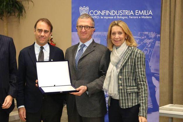 La Sit ha vinto il premio Mascagni 2017, la consegna del riconoscimento con il direttore di Qn e il Resto del Carlino Andrea Cangini (FotoSchicchi)