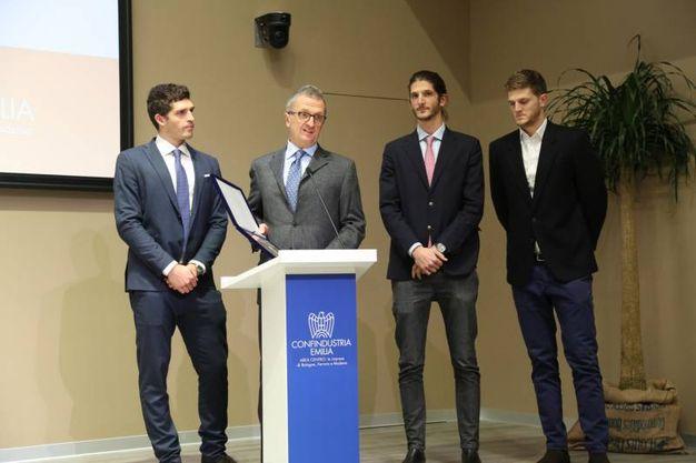 La famiglia Acquaderni di Sit Tecnospazzole, l'azienda che ha vinto la terza edizione del premio Mascagni (FotoSchicchi)