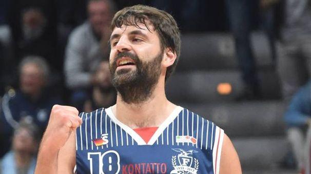 Luca Gandini della Fortitudo (FotoSchicchi)