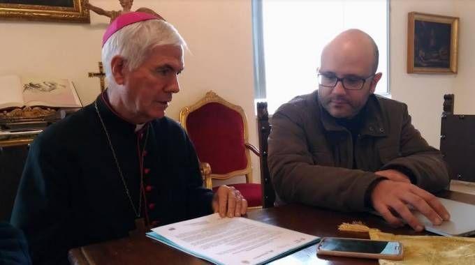 Il vescovo D'Ercole in conferenza stampa