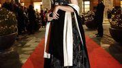 Virginia Raggi alla prima dell'Opera (Ansa)