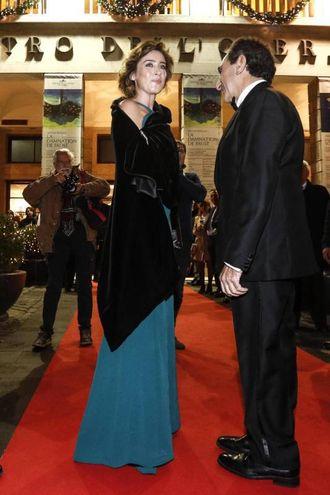 Maria Elena Boschi con Carlo Fuertes (Ansa)