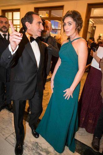 Maria Elena Boschi con Carlo Fuertes (Imagoeconomia)