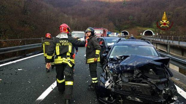 La scena dell'incidente sull'A12