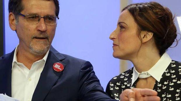 RIVALI Virginio Merola e Lucia Borgonzoni