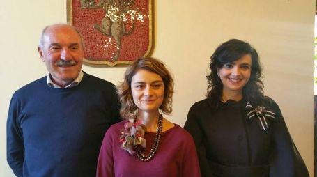 Il pres di Cortona Sviluppo Polezzi con il sindaco Basanieri e il consigliere Mondovecchio