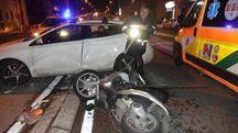 Incidente in via della Foce (Foto Umicini)