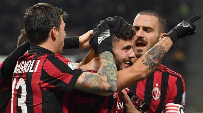 Milan-Verona, gol di Cutrone (Ansa)