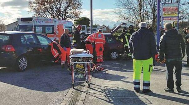 I soccorsi sul luogo dell'incidente