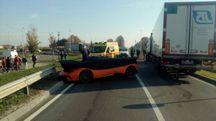 La Lamborghini su cui viaggiava Vito Rotunno al momento dell'incidente