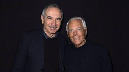 Carlo Capasa con Giorgio Armani