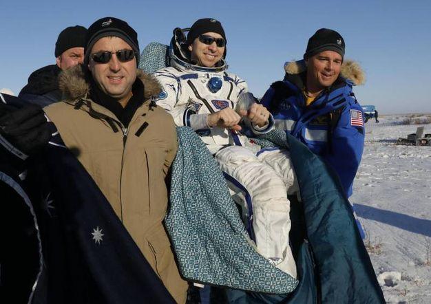 Il recupero dell'astronauta della NASA Randy Bresnik (AFP)