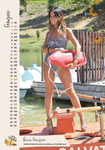 """GIUGNO: Ilaria Giorgini, 34 anni, tecnico di radiologia di Falconara Marittima (Ancona), mamma di Gaia di 6 anni. È la vincitrice della fascia """"Miss Mamma Italiana DAMIGELLA D'ONORE 2017""""."""