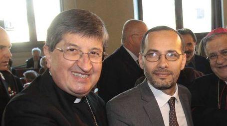 L'arcivescovo Betori e l'imam di Firenze (New Press Photo)