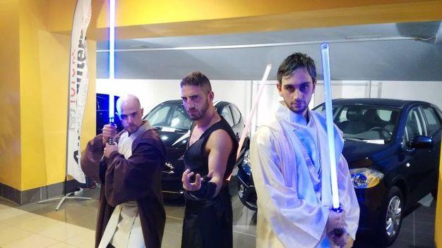 veca cosplayers per la prima di Star Wars al Cinedream di Faenza