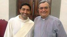 Il vescovo Agostinelli con Marco Galgano, 40 anni, originario di Barberino di Mugello