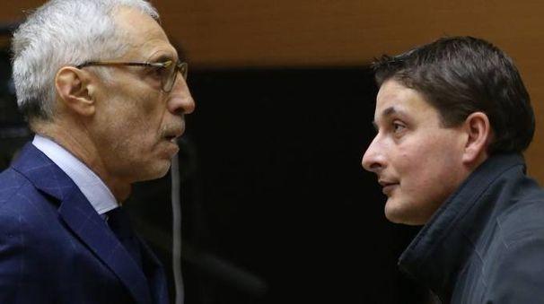 L'avvocato Gianfranco Abate con Mirco Franzoni