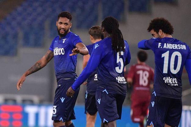 Wallace esulta per il gol del 3-0 (Lapresse)