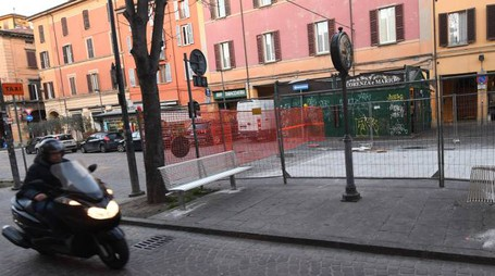 Piazza Aldrovandi dopo i lavori di riqualificazione (Foto Schicchi)