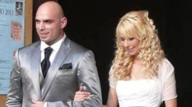 Antonella Barbieri e il marito Andrea Benatti nel giorno del loro matrimonio