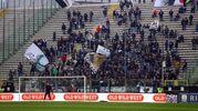 I tifoso del Cesena allo stadio Tardini di Parma (foto LaPresse)