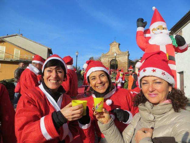 Facce da Babbo Natale (foto Franceschetti)