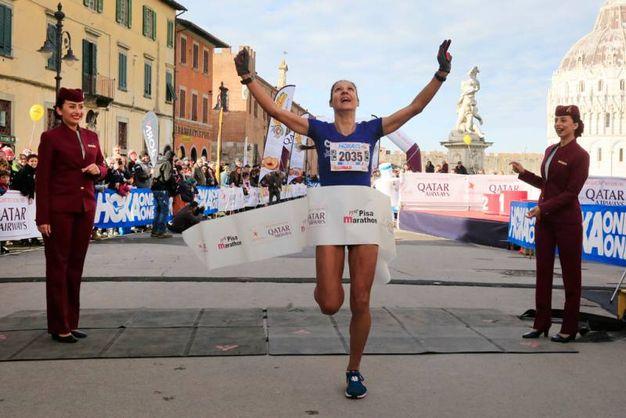 Nikolina Sustic, prima delle donne alla Maratona di Pisa (foto Teta/Valtriani)
