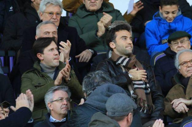 Fiorentina-Genoa. Pepito Rossi in tribuna  con il sindaco Nardella (Germogli)