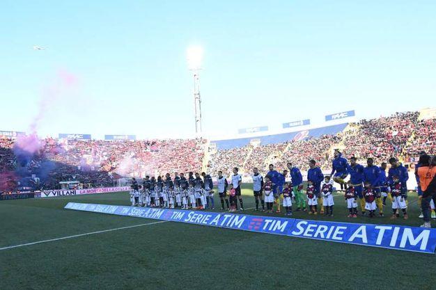 La sfida tra Bologna e Juve allo stadio Dall'Ara (foto Schicchi)