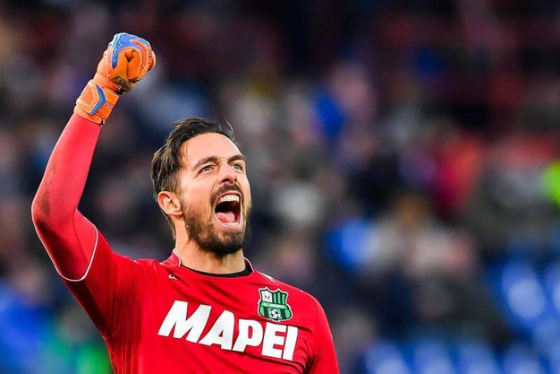 Consigli esulta per la vittoria del Sassuolo contro la Sampdoria (foto Ansa)