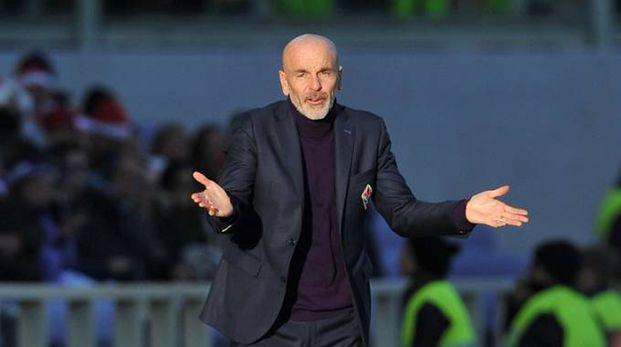 L'allenatore della Fiorentina, Stefano Pioli