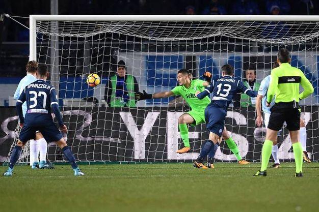 Atalanta-Lazio 1-0, Caldara (Afp)