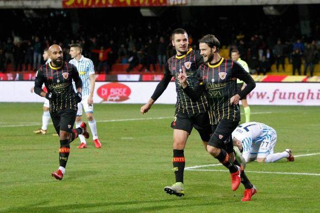 Benevento-Spal 1-0, Costa -autogol di Cremonesi  (Ansa)