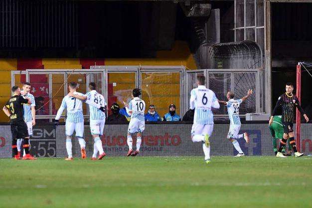 Benevento-Spal 1-1, Floccari (Lapresse)