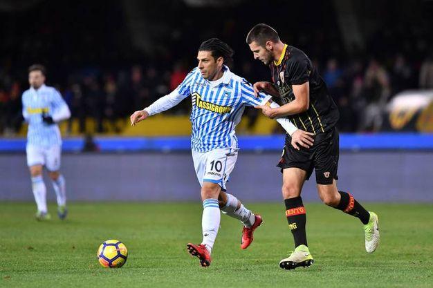 Benevento-Spal 1-2, Floccari (Lapresse)